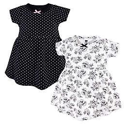 Hudson Baby® 2-Pack Toile Dresses in Black