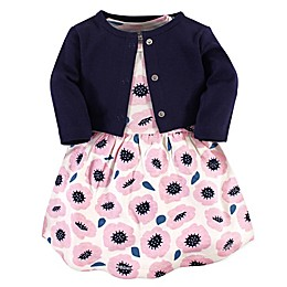 Touched by Nature 2-Piece Organic Cotton Blossoms Dress and Cardigan Set
