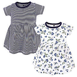 Hudson Baby® 2-Pack Blueberries Casual Dress in Blue/White