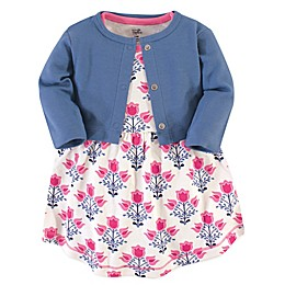 Touched by Nature 2-Piece Organic Cotton Abstract Flower Dress and Cardigan Set