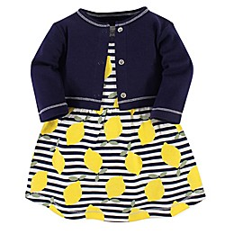 Touched by Nature 2-Piece Organic Cotton Lemons Dress and Cardigan Set