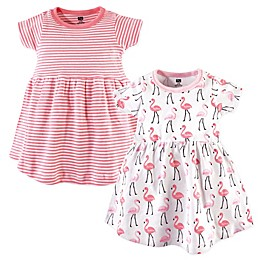 Hudson Baby® 2-Pack Flamingos Casual Dress in Pink/White