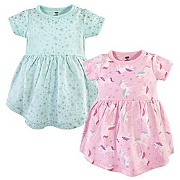 Hudson Baby® 2-Pack Magical Unicorn Dresses in Pink