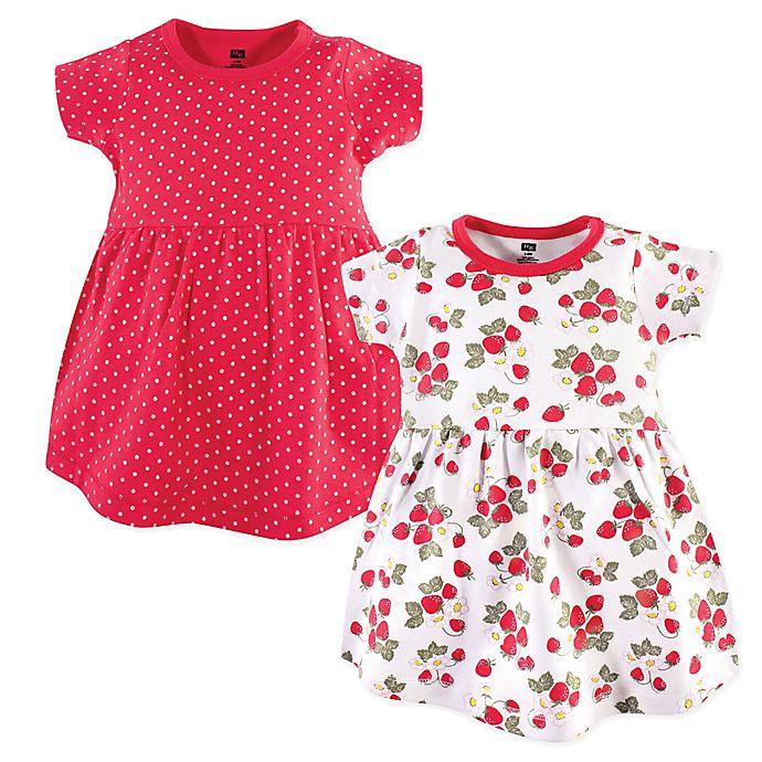 Alternate image 1 for Hudson Baby® 2-Pack Strawberries Dresses in Red