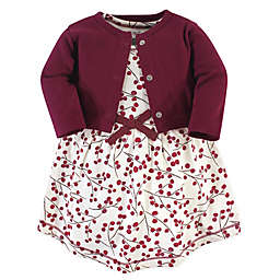 Touched by Nature 2-Piece Berry Branch Organic Cotton Dress and Cardigan Set