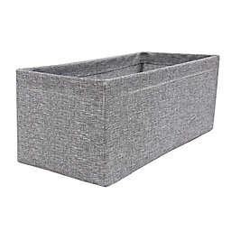 SALT™ Textured Canvas Accessory Storage Bin in Grey