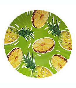 Set de 4 platos para ensalada de melamina