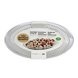 CreativeWare Clear Serving Platters (Set of 2)