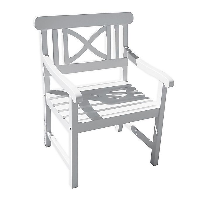 Alternate image 1 for Vifah Bradley Patio Contoured Armchair in White