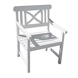 Vifah Bradley Patio Contoured Armchair in White