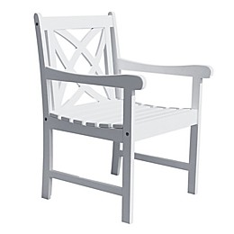 Vifah Bradley 4-Foot Patio Armchair in White