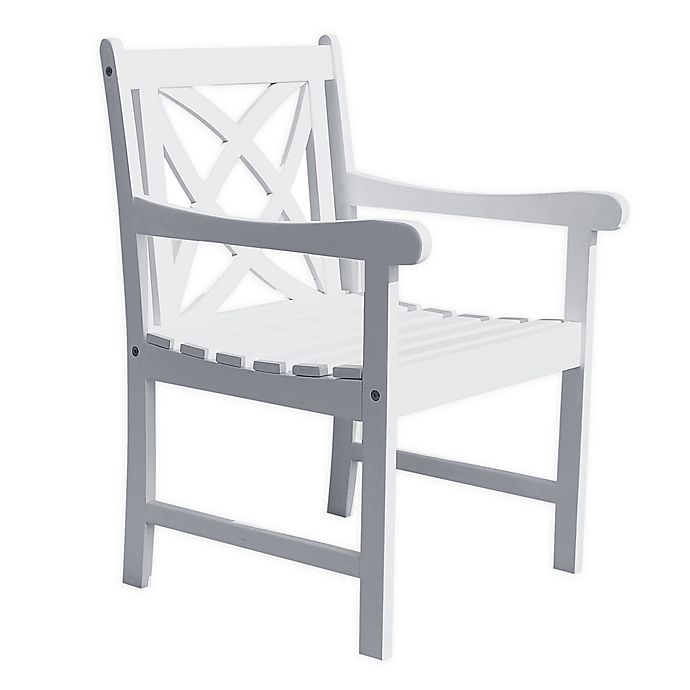 Alternate image 1 for Vifah Bradley 4-Foot Patio Armchair in White