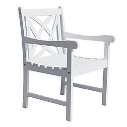 Vifah Bradley 4-Foot Patio Armchair in White