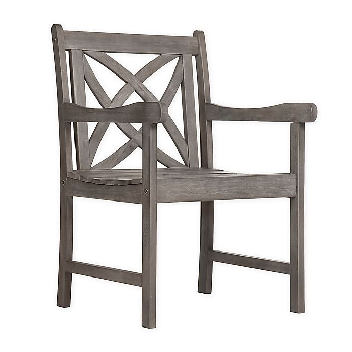 Alternate image 1 for Vifah Renaissance Patio Armchair in Grey