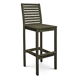 Vifah Renaissance Patio Bar Chair in Grey