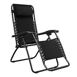 Caravan® Infinity Zero Gravity Chairs in Black (Set of 2)
