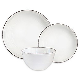 American Atelier Madelyn 12-Piece Dinnerware Set in White