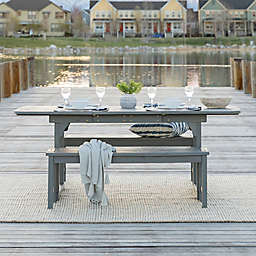 Forest Gate Eagleton 3-Piece Acacia Outdoor Picnic Set in Grey Wash
