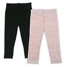 Capelli New York 2-Pack Foil Spray Leggings in Pink