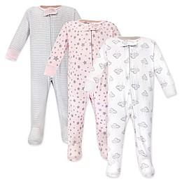 Hudson Baby® 3-Pack Cloud Mobile Sleep N' Play Footed Pajamas