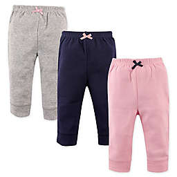 Luvable Friends® Size 0-3M 3-Pack Pant Set in Pink/Navy/Grey