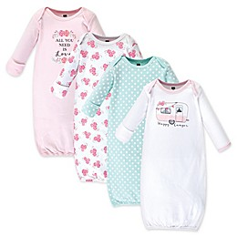Hudson Baby® Size 0-6M 4-Pack Happy Camper Gowns