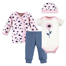 Touched by Nature Preemie 4-Piece Organic Cotton Blossoms Layette Set