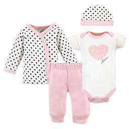Touched by Nature Preemie 4-Piece Organic Cotton Scribble Layette Set