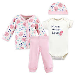 Touched by Nature Preemie 4-Piece Organic Cotton Made With Love Layette Set