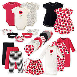 Touched by Nature Size 0-6M 25-Piece Poppy Organic Cotton Layette Set in Red