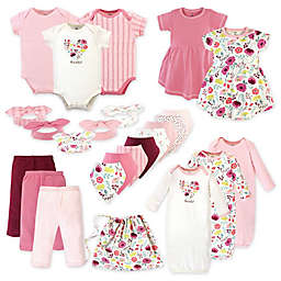Touched by Nature Size 0-6M 25-Piece Botanical Organic Cotton Layette Set in Pink
