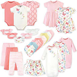 Touched by Nature Size 0-6M 25-Piece Butterflies Organic Cotton Layette Set in Pink