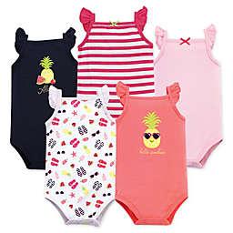 Hudson Baby® Size 6-9M 5-Pack Hello Sunshine Bodysuits in Pink