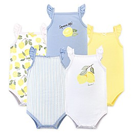 Hudson Baby® 5-Pack Lemon Short Sleeve Bodysuits