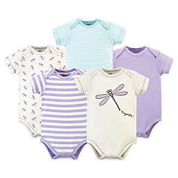 Touched by Nature 5-Pack Dragonfly Organic Cotton Short Sleeve Bodysuits