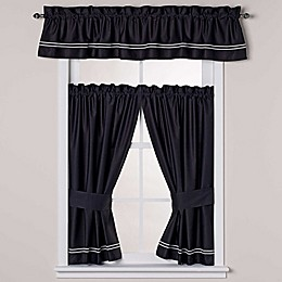 Wamsutta® Baratta Stitch Bath Window Curtain Panel Pair