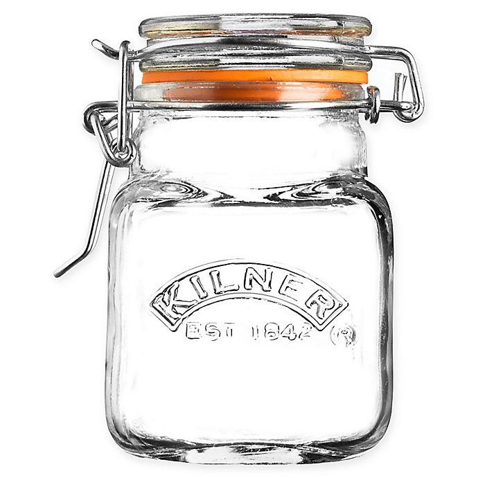 Alternate image 1 for Kilner® Square 2 oz. Clip Top Spice Jar