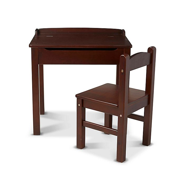 Terrific Melissa Doug Wooden Lift Top Desk And Chair Set Bed Pabps2019 Chair Design Images Pabps2019Com