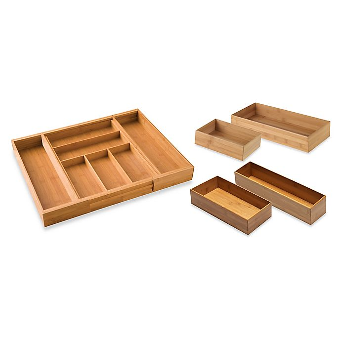 Alternate image 1 for Bamboo Drawer Organization Collection