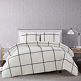 Truly Soft® Kurt Windowpane Duvet Set in Ivory/Black