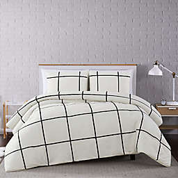 Truly Soft® Kurt Windowpane Comforter Set in Ivory/Black
