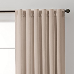 Linen Rod Pocket/Back Tab Window Curtain Panel