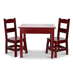 Melissa & Doug® 3-Piece Wooden Table and Chairs Set