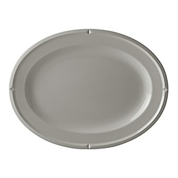 kate spade new york Tribeca Platinum Grey™ 16-Inch Oval Platter