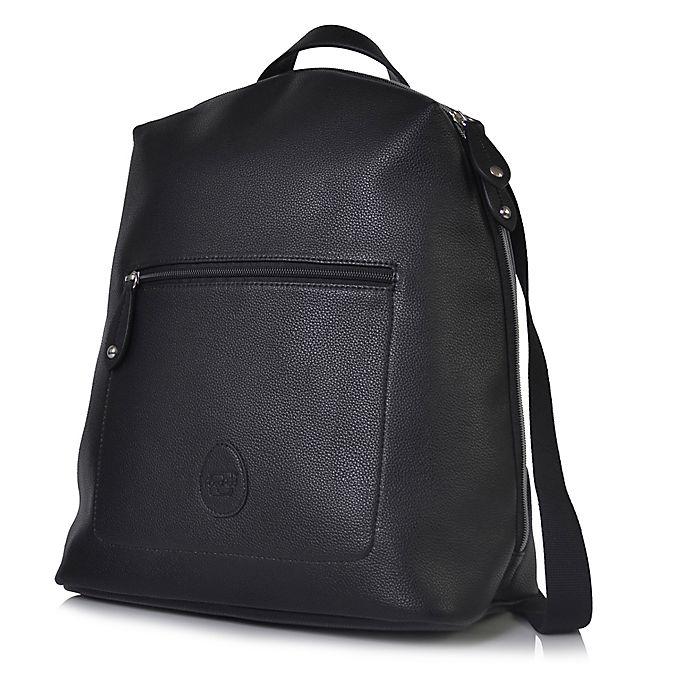 Alternate image 1 for PacaPod Hartland Vegan Leather Backpack Diaper Bag in Black
