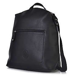 PacaPod Hartland Vegan Leather Backpack Diaper Bag in Black