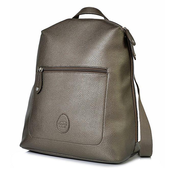 Alternate image 1 for PacaPod Hartland Vegan Leather Backpack Diaper Bag in Gunmetal