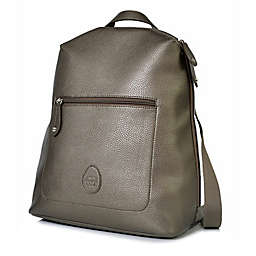PacaPod Hartland Vegan Leather Backpack Diaper Bag in Gunmetal