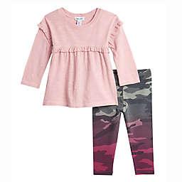 Splendid® 2-Piece Dip Dye Camo Dress and Legging Set in Pink