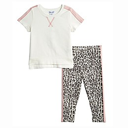 Splendid® 2-Piece Leopard Top and Legging Set in White